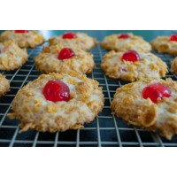 CRUNCHY COOKIES WITH CHERRY FILLING 400GR