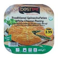 BESTTAT TRADITIONAL SPINACH & FETA & WHITE CHEESE PASTRY 850GR