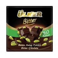 ULKER DARK CHOCOLATE WITH WHOLE PISTACHIOS 70G