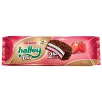 ULKER HALLEY WITH STRAWBERRY BISCUITS 240 GR